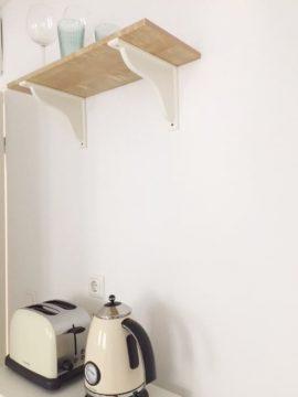 ausgestattete Küche im Appartement Constanze in der Getreidegasse in Salzburg
